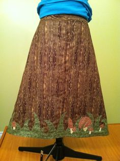 I wood if I could skirt #DIY #fashion #apparel #skirt