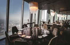 Aqua shard, a contemporary British restaurant and bar, with breath-taking views from the 31st floor of The Shard - shared by Houyea