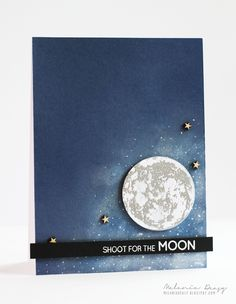 To the Moon Galaxies and space themes are gaining popularity in the card world, and we cannot wait to see what you make with this unique stamp set! The awesome