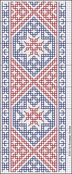 Double Running Stitch Charts - Medieval Middle Eastern Counted-Thread Embroidery
