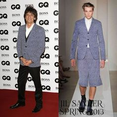 Male Fashion Trends: Roonie Wood en Jil Sander – GQ Men Of The Year Awards 2013 #GQAwards