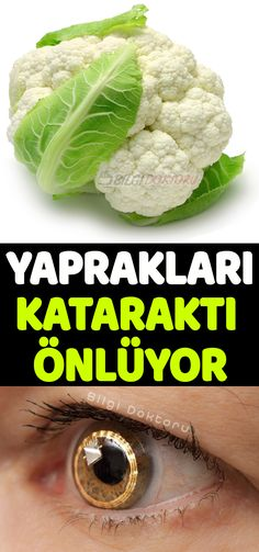 The cauliflower leaves also contain 7 active substances that inhibit cataracts. Fitness Nutrition, Diet And Nutrition, Regular Exercise, Balanced Diet, Natural Medicine, Healthy Living, Health Super, Natural Foods, Health