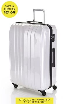 731bbc51f2a3 This White Flylite Quartz Hard Suitcase hard suitcases