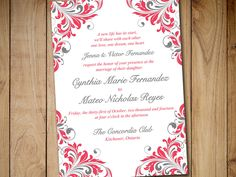 """Printable Wedding Invitation Template - Instant Download DIY Wedding Template """"Maggie"""" Guavat Smoke Printable Wedding Invitation Card by PaintTheDayDesigns on Etsy"""