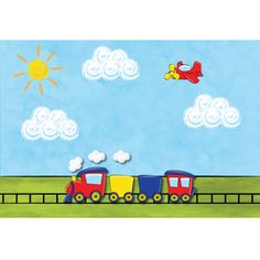 Train Birthday Placemats (4)