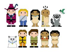 Pocahontas Pixel People Character PDF pattern by CheekySharkLabs