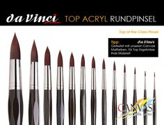 DaVinci - Rundpinsel - Canvasi Edition Paint Colours, Brushes