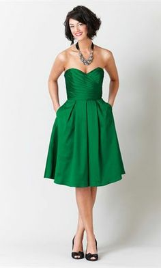 We could all have pockets! lol. green bridesmaid dresses