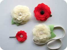 How to use a Silhouette to make these beautiful fabric hair clips