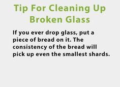 Tip For Cleaning Up Broken Glass - #Glass, #LifeHack, #LifeTip