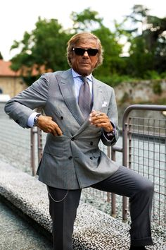 I don't know who this guy is, but I see pictures of him on the Sartorialist all the time. When I'm old, I hope to be at least half this cool.