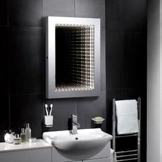 Capella LED Infinity Mirror - http://www.pebblegrey.co.uk/easter-sale/easter-sale-mirrors/products-illuminated-infinity-mirrors-capella.htm