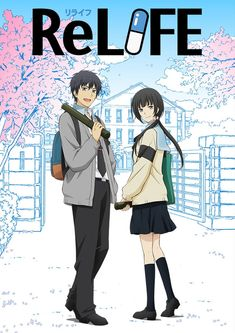 Crunchyroll began streaming the four-episode finale arc for the ReLIFE anime on Wednesday. Relife Anime, Anime Dvd, Anime Films, Anime Characters, Kawaii Anime, Poster Anime, Slice Of Life Anime, Animes To Watch, Anime Recommendations