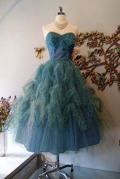 50s Dress // 50s Party Dress // 50s Prom Dress // by xtabayvintage, $150.00#Repin By:Pinterest++ for iPad#
