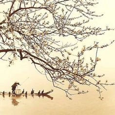 Chinese photographer Don Hong-Oai is famous for his landscape photographs that look like traditional Chinese paintings. View Don Hong-Oai photos and read about the photographer here. Japanese Artwork, Japanese Painting, Japanese Prints, Chinese Painting, Chinese Prints, Zen Painting, Japanese Watercolor, Chinese Artwork, Art Asiatique