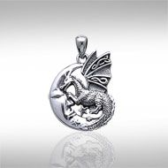 Better pin of my Peter Stone Celtic dragon and moon pendant.