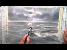 Super Ideas For Painting Ocean Waves Storms Watercolor Video, Watercolor Landscape, Abstract Watercolor, Watercolor Flowers, Watercolor Paintings, Acrylic Painting Tutorials, Watercolour Tutorials, Watercolor Techniques, Painting Techniques
