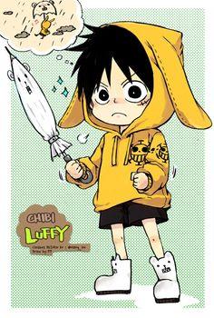 Luffy,chibi luffy, luffy kawaii, one piece Sanji One Piece, One Piece Ace, One Piece Manga, Kawaii Chibi, Cute Chibi, Mugiwara No Luffy, Tsurezure Children, Otaku, One Piece World