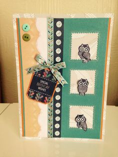 Owl card made with do crafts owl folk card kit