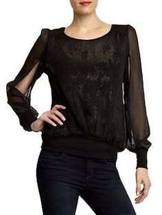 lace blouse. would be cute with a pencil skirt.