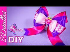 Como hacer lazos: Lazos de Cintas Multicolor #7   Video# 110   SDetalles   DIY - YouTube