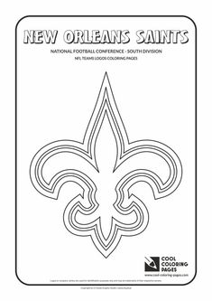 Cool Coloring Pages - NFL American Football Clubs Logos - National Football Conference - South Division / New Orleans Saints logo / Coloring page with New Orleans Saints logo Soccer Logo, Nfl Logo, Football Players Images, Football Team Logos, Football Coloring Pages, Redskins Logo, Coloring Pages Inspirational, Cool Coloring Pages, Free Coloring
