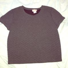 Adorable Gray Crop Top In perfect condition- great with jeans and great for summer!!! Size medium but could fit small as well. By Love...Ady, purchased at Lord and Taylor Lord & Taylor Tops