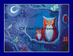 The Forest Night Counted Cross Stitch Chart/Kit Licensed Artwork by Susan Rodio by ACrossStitchFantasy on Etsy