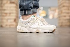 PUMA R698 'WHITE ON WHITE' WHITE/WHITE available at www.tint-footwear.com/puma-r698-white-on-white-01 puma trinomic r698 white on white black and white running sneaker sneakers tint footwear studio munich münchen