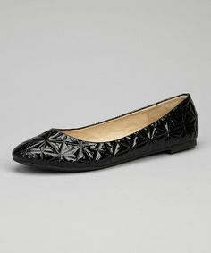 Take a look at this Black Magda Ballet Flat by Skyler on #zulily today!