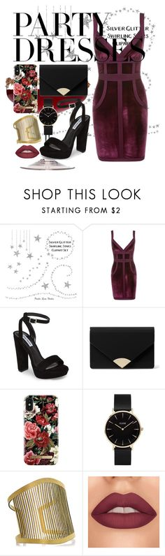 """""""#PolyPresents: Party Dresses"""" by gardrop ❤ liked on Polyvore featuring Steve Madden, MICHAEL Michael Kors, iDeal of Sweden, CLUSE, Hera, contestentry and polyPresents"""