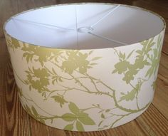 Olliebollieboo Designs Handmade Lampshade Lamp Shade Ceiling Table Drum Wallpaper Green Olive Leaf Luxury Home Gift Bedroom Restaurant