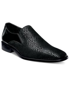 Stacy Adams Shoes, Fortini Plain Toe Slip On Shoes