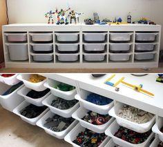 Kid's room organization – IKEA Trofast system