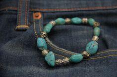 bracelet homme en turquoise et skulls argent très mode (un seul exemplaire possible) : Bijoux pour hommes par made-with-love-in-aiacciu