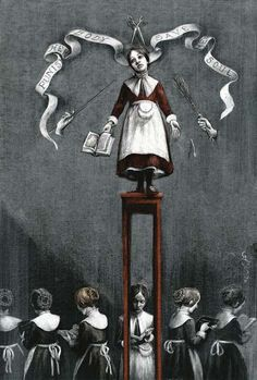 With all the injustice Jane faces, she perseveres through it. She faces her negative emotions honestly and thinks through them. As she grows older she never seeks to punish those who wronged her. She even tries to reconcile with Mrs. Reed, who even after Jane left for school, wronged her.  (Santiago Caruso, illustrator)