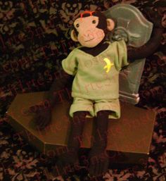 Deadly Bear  JoJo  Undead Monkey Plush Toy by Th1rte3nsCloset, $75.00