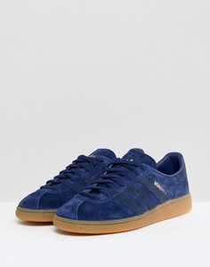 db1e11935669 adidas Originals Munchen Sneakers In Blue