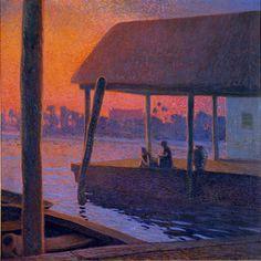 Galileo Chini, L'ora nostalgica sul Me-Nam, 1912-1913