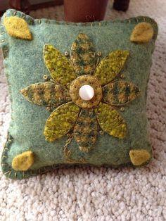 Wool Felt Pin Keep or Pillow Tuck Pin Cushion OFG FAAP by FolkHome
