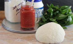 This fast and easy pizza dough is perfect for when you don't have time to wait for dough to prove or to play around with yeast.