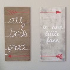 """Custom nursery print """"All of God's grace in one little face"""" at avaberrylane.com."""