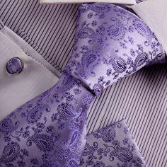 Purple Wedding Ties: #wedding #tie #ideas The Purple, All Things Purple, Purple Haze, Shades Of Purple, Purple Ties, Mens Wedding Ties, Wedding Suits, Color Violeta, Lilac Wedding