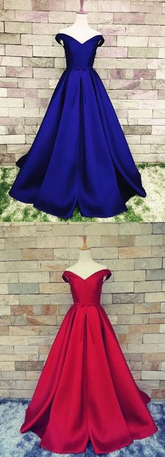 Sexy Prom Dress,V Neck Evening Gowns,Stain Prom Dress,Off