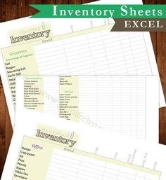 Frugal living Household and Grocery Inventory Lists , great for Emergency Prep, keeping a stock of items, and cutting down your grocery and household bill!