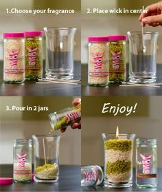 Make your own candle with Pink Zebra Sprinkles www.pinkzebrahome.com/danakilgore