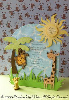 Cricut Safari invitation. Create a Critter Cartridge.  *