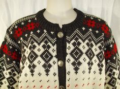 Vtg 70s VOSSKNIT 100% Wool Norway Norweigan by SirenCallVintage