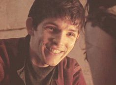 Merlin laughing with Freya <3 (gif) <---- don't mind me I'll just be in this corner over here SOBBING.