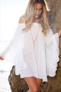 White/Black Chiffon Mini Dress Women 2017 Fashion Casual Dress Summer Vestidos in Clothing, Shoes & Accessories, Women's Clothing, Dresses Sexy White Dress, White Mini Dress, White Outfits, Summer Outfits, Dress Summer, Boho Fashion, Fashion Outfits, Beach Fashion, Fashion Sale